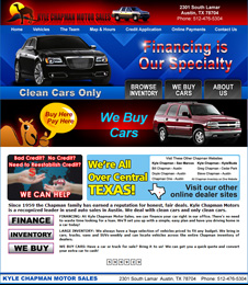 Click to view quality preowned cars, trucks, vans and SUV's in Austin, Texas, at Kyle Chapman Motors.