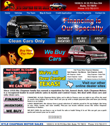 Click to view quality preowned cars, trucks, vans and SUV's in Buda or Kyle, Texas, at Kyle Chapman Motors.