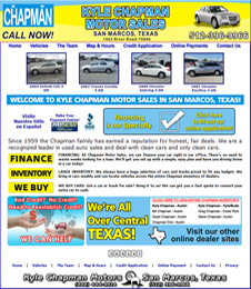 Click to view quality preowned cars, trucks, vans and SUV's in San Marcos, Texas, at Kyle Chapman Motors.